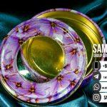 ظرف در دار و طرح دار برای زعفران